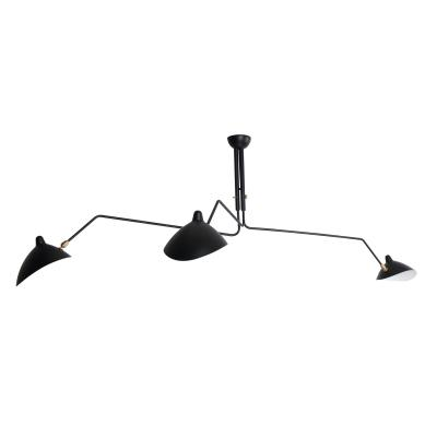 Three-Arm Ceiling Lamp Serge Mouille France Design