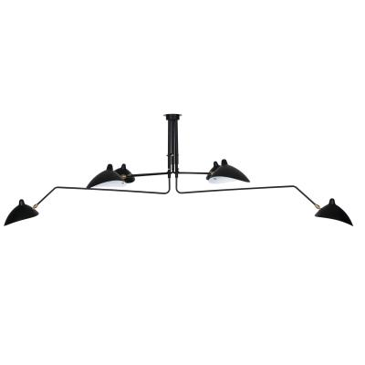 Six-Arm Ceiling Lamp Serge Mouille France Design