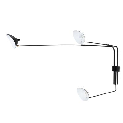 Three-Arm Wall Sconce Serge Mouille France Design