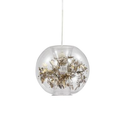 Glass&flower pendant Light-8451S